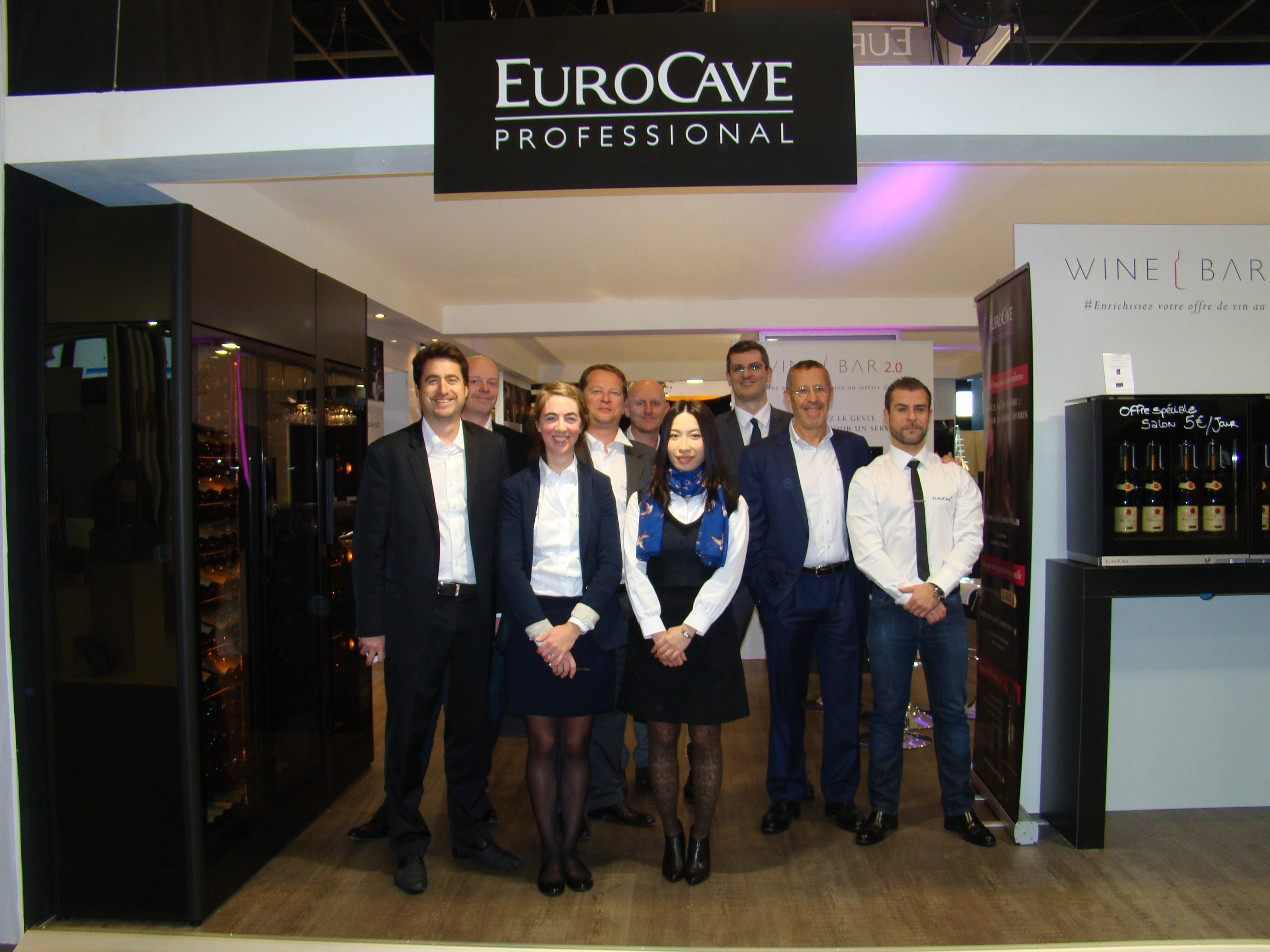 EuroCave booth Equip'hotel team