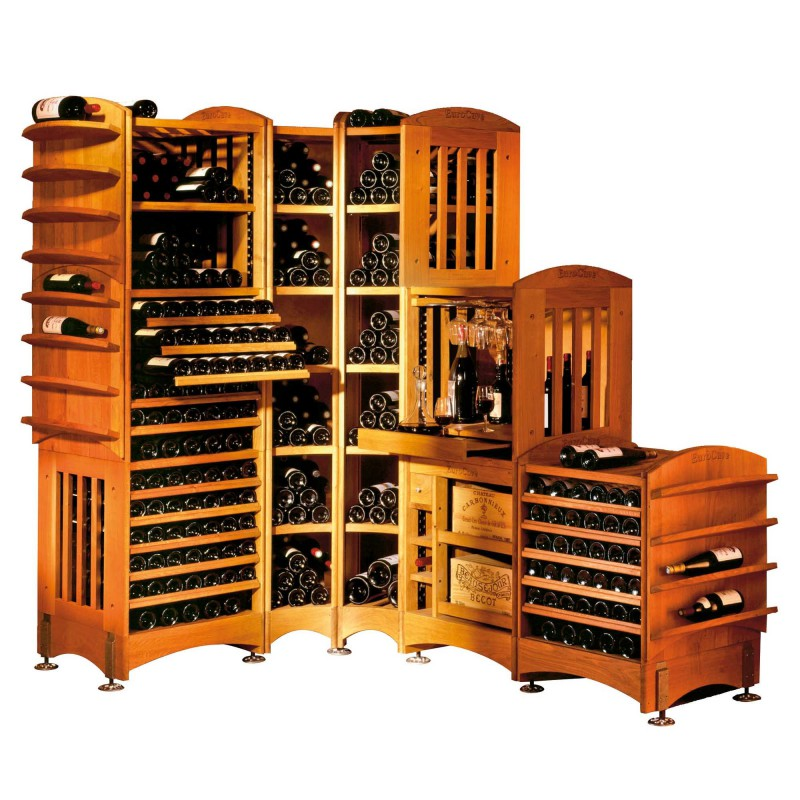 moduloth que rangement modulable en ch ne massif pour le vin eurocave. Black Bedroom Furniture Sets. Home Design Ideas