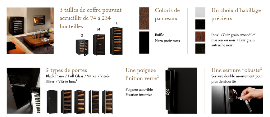 gamme cave a vin pure cave vins de vieillissement ou de service a eurocave. Black Bedroom Furniture Sets. Home Design Ideas