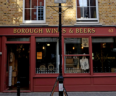 Borough Wine & Beers, Clerkenwell. 63 Exmouth Market - Londres - Caviste vin et bières