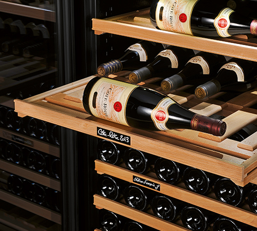 Wine cabinet shelf - many layout possibilities to most effectively meet your serving and storage preferences.