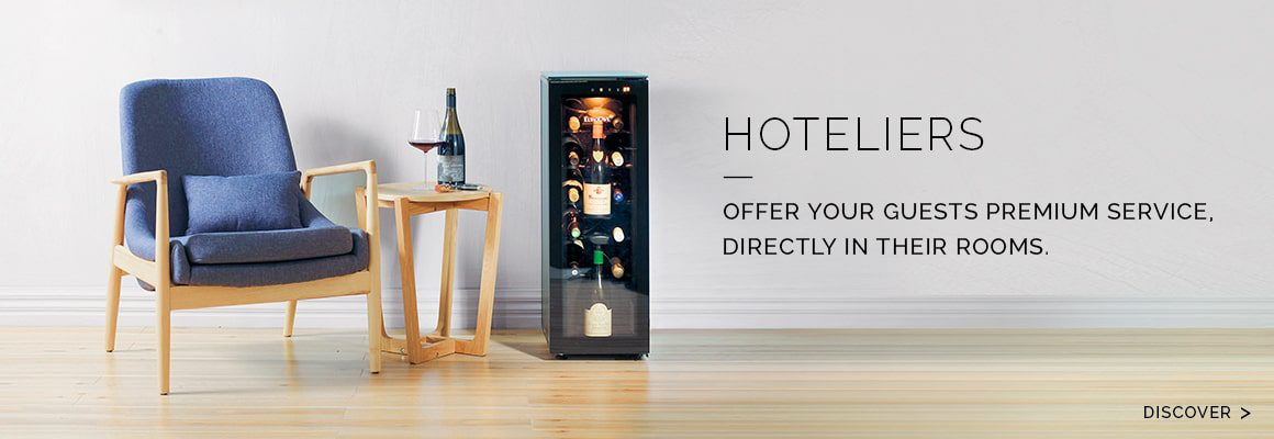 Hotels, B&Bs - Increase your wine sales thanks to premium service in your rooms - Bring wine to room temperature, preserve opened bottles and offer your guests premium service.