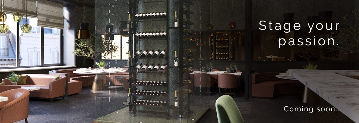 Professional metal wine cellar storage (aluminum and steel) - Create a customer experience that is both visual and tasteful in your restaurant room.